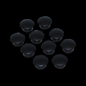 Dækpropper i sort til udvendig montering (10 stk)